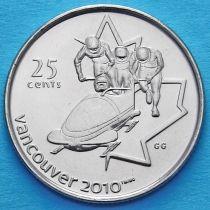 Канада 25 центов 2008 год. Бобслей.