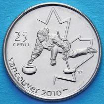 Канада 25 центов 2007 год. Кёрлинг.