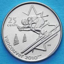 Канада 25 центов 2007 год. Горнолыжный спорт.