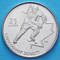 Канада 25 центов 2007 год. Хоккей.