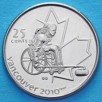 Канада 25 центов 2007 год. Паралимпийский кёрлинг.