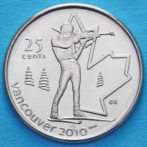 Канада 25 центов 2007 год. Биатлон.