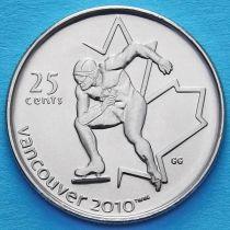 Канада 25 центов 2009 год. Конькобежный спорт.