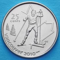 Канада 25 центов 2009 год. Лыжные гонки.