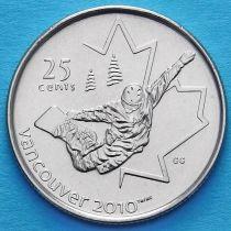 Канада 25 центов 2008 год. Сноуборд.