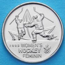 Канада 25 центов 2009 год. Женский хоккей.
