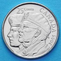Канада 25 центов 2005 год. Год Ветеранов.