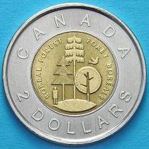 Канада 2 доллара 2011 год. Тайга.