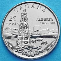 Канада 25 центов 2005 год. Альберта.