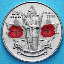 Канада 25 центов 2010 год. 65 лет Победе.