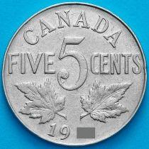 Канада 5 центов 1928 год.