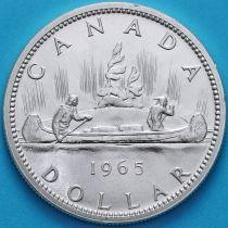 Канада 1 доллар 1965 год. Каноэ. Серебро.