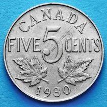 Канада 5 центов 1922-1932 год.