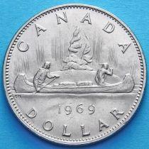 Канада 1 доллар 1968-1969 год. Каноэ.