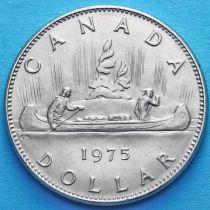 Канада 1 доллар 1975, 1976 год. Каноэ.