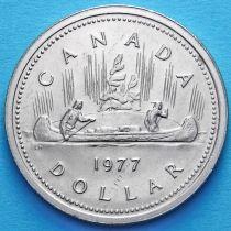 Канада 1 доллар 1977 год. Каноэ.