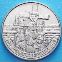 Канада 1 доллар 1984 год. Открытие Канады.