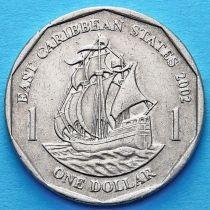 Британские Карибские Территории 1 доллар 2002 год.