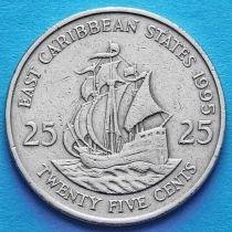 Восточные Карибы 25 центов 1995 год