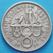 Британские Карибские Территории 50 центов 1955 год.