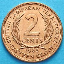 Британские Карибские Территории 2 цента 1965 год. UNC.