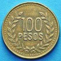 Колумбия 100 песо 2008-2010 год.