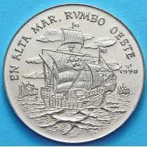 Куба 1 песо 1990 год. Колумб плывет на запад