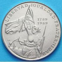 Куба 1 песо 1989 год. 200 лет французской революции.
