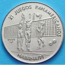 Куба 1 песо 1990 год. Панамериканские игры. Волейбол