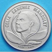Куба 1 песо 1990 год. Селия Санчес Мондулей
