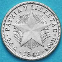 Куба 10 сентаво 1949 год. Серебро.
