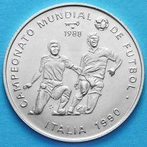 Куба 5 песо 1988 год. Футбол. Серебро.