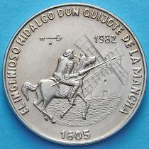Куба 1 песо 1982 год. Сервантес. Дон Кихот.