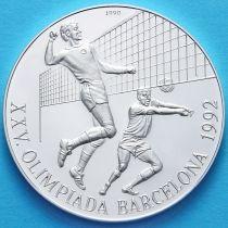 Куба 10 песо 1990 год. Волейбол. Серебро.