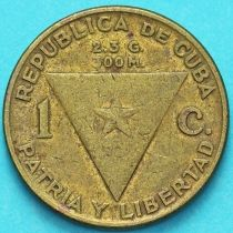 Куба 1 сентаво 1953 год. 100 лет со дня рождения Хосе Марти