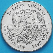 Куба 1 песо 1989 год. Кубинский табак.