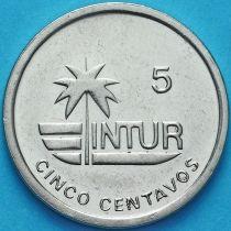 Куба 5 сентаво 1989 год. INTUR.