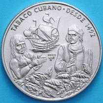 Куба 1 песо 2005 год. Кубинский табак.