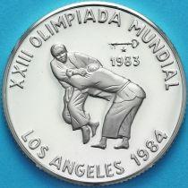 Куба 5 песо 1983 год.  Дзюдо. Серебро