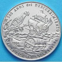 Куба 1 песо 1994 год. Остров Евангелиста