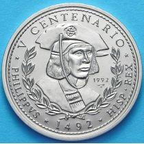 Куба 1 песо 1992 год. Король Филипп.