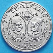 Куба 1 песо 1991 год. Винсент и Мартин Пинсон.