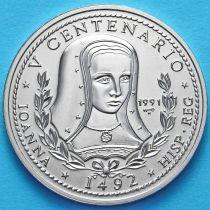 Куба 1 песо 1991 год. Королева Иоанна.