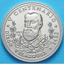 Куба 1 песо 1991 год. Диего Веласкес.