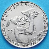 Куба 1 песо 1992 год. Индеец гуама.