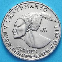 Куба 1 песо 1991 год. Индеец хатуи.