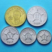 Куба набор 5 монет 1985-2014 год.
