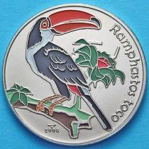 Куба 1 песо 2006 год. Большой тукан. Эмаль