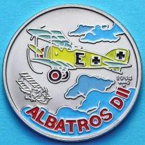 Куба 1 песо 1994 год. Аэроплан Альбатрос. Эмаль