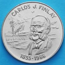 Куба 1 песо 1988 год. Карлос Финлей.